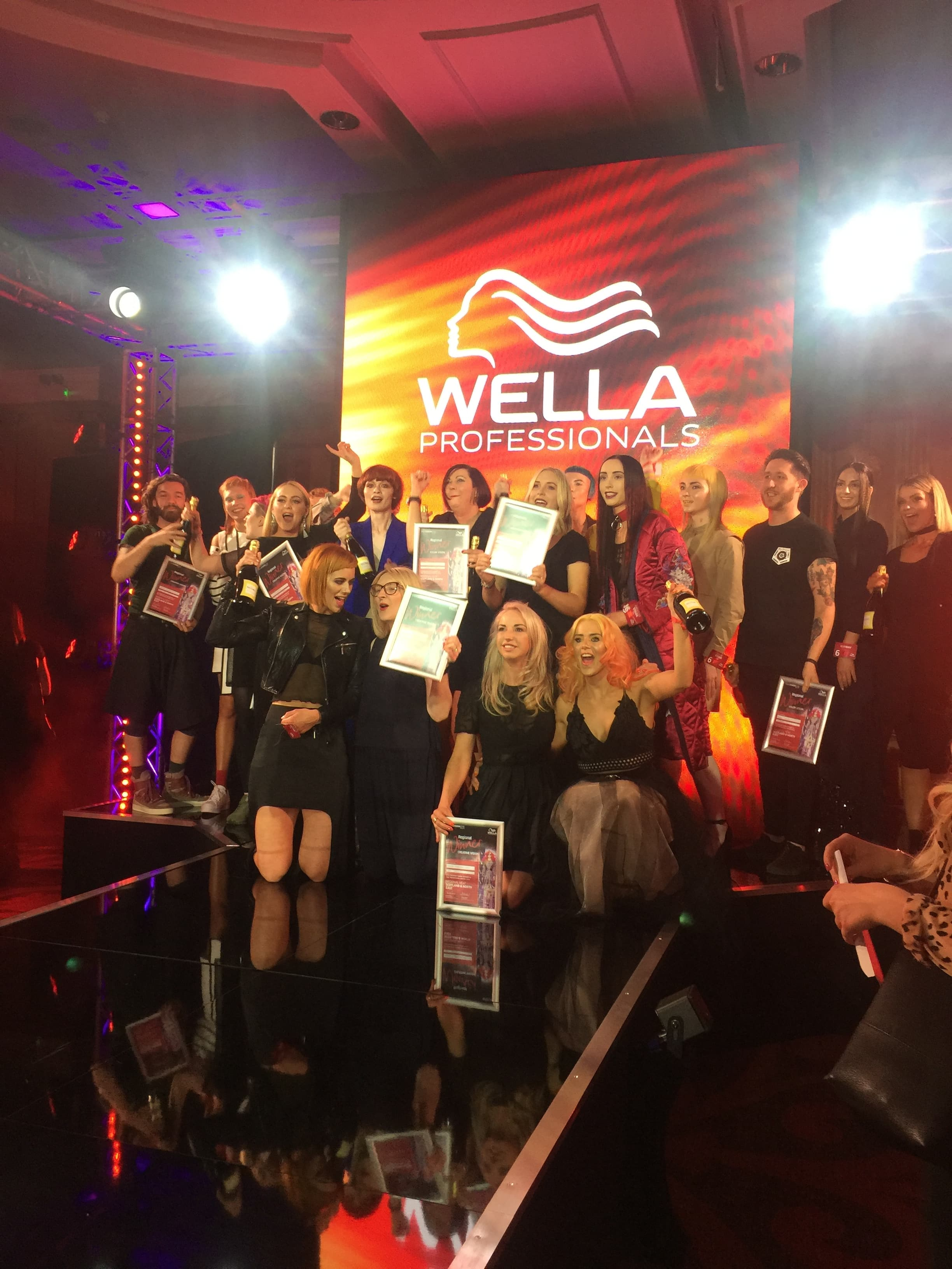Kirkham Hairdressing Glenrothes Fife Wella Trend Vision Scottish Final 2018